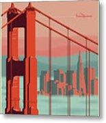 San Francisco Poster - Vintage Travel Metal Print