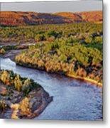 San Juan River At Sunrise Metal Print