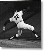 Sandy Koufax Pitching A No Hitter Metal Print