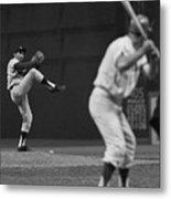 Sandy Koufax Pitching During Baseball Metal Print
