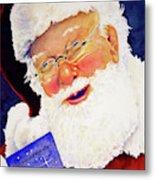 Santa Knows Metal Print