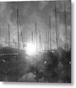 Sausalito California Mystical Magical Harbor Sunrise Metal Print
