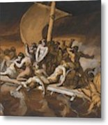 Scene Of Cannibalism For The Raft Of The Medusa Metal Print