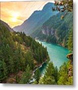 Scene Over Diablo Lake When Sunrise Metal Print