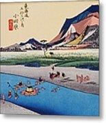 Scenery Of Odawara In Edo Period Metal Print