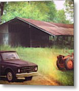 Scenes From The Past - Trucks And Tractors Metal Print