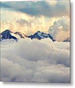 Scenic Alpine Landscape With Mountain Metal Print