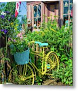 Scenic Garden And Antiques Store Metal Print
