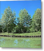 Scenic View Of Burgundy Canal Metal Print