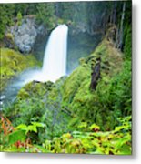 Scenic View Of Waterfall, Portland Metal Print