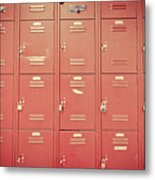 School Lockers Metal Print