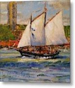 Schooner Mystic Whaler Cruising The Hudson  Metal Print