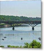 Schuylkill River View - Strawberry Mansion Bridge Metal Print