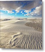 Sea Of Sand - Endless Dunes At White Sands New Mexico Metal Print