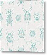 Seamless Print With Bugs. Eps 10 Vector Metal Print