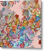 Seamless Texture With Colorful Crazy Metal Print