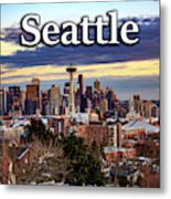 Seattle From Kerry Park Metal Print