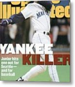 Seattle Mariners Ken Griffey Jr, 1995 Al Division Series Sports Illustrated Cover Metal Print