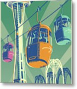Seattle Poster- Space Needle Vintage Style Metal Print