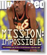 Seattle Supersonics Gary Payton, 1996 Nba Western Sports Illustrated Cover Metal Print