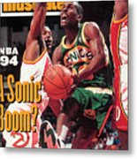Seattle Supersonics Gary Payton... Sports Illustrated Cover Metal Print