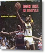 Seattle Supersonics Gus Williams, 1979 Nba Finals Sports Illustrated Cover Metal Print