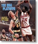 Seattle Supersonics Jack Sikma, 1982 Nba Western Conference Sports Illustrated Cover Metal Print