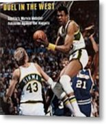 Seattle Supersonics Marvin Webster, 1978 Nba Western Sports Illustrated Cover Metal Print