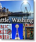 Seattle Washington Waterfront 01 Metal Print