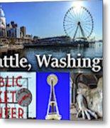Seattle Washington Waterfront 02 Metal Print