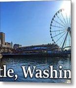 Seattle Washington Waterfront  Metal Print