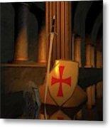 Secret Of The Knights Templar Metal Print