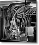 Secretary With Pneumatic Tube Metal Print