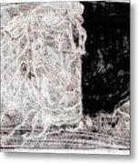 Self In Black Coloured Oil Transfer Drawing 11 Metal Print