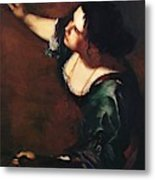 Self Portrait As The Allegory Of Painting 1639 Metal Print