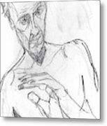 Self-portrait Pencil Reach 11 Metal Print
