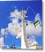 Semi-large Ship's Radar Tower And Headlights. Metal Print
