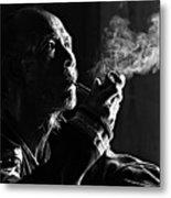 Senior Man Smoking Pipe, Vietnam Metal Print