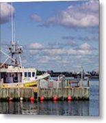 Serene Day Fisherman's Cove  Metal Print