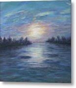 Serene River Sunset Metal Print
