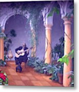 Sergovia In A Spanish Garden Metal Print