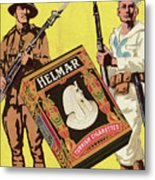 Servicemen Advertising Helmar Cigarettes Metal Print