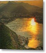 Setting Sun Over Botafogo Metal Print