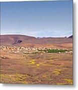 Settlement Leaving Ouarzazate To Agdz Metal Print
