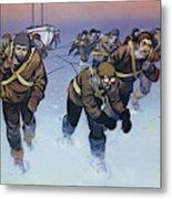 Shackleton In The Antarctic  Metal Print