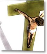 Shadow Of The Cross Metal Print