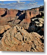 Shafer Canyon In Canyonlands Np Metal Print