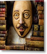 Shakespeare With Old Books Metal Print