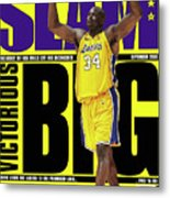 Shaquille O'Neal: Notorious BIG SLAM Cover Metal Print