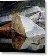 Shawanaga Rock And Reflections I Metal Print